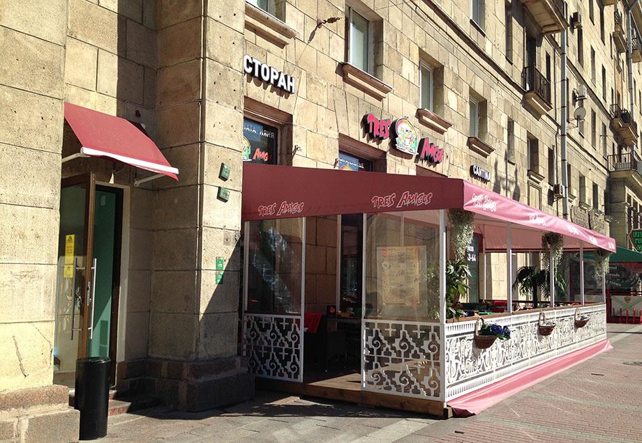 летнее кафе летняя терраса трес амигос